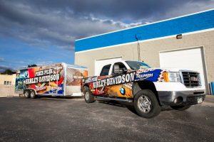Commercial Fleet Wraps & Graphics truck tailer wrap vehicle 300x200